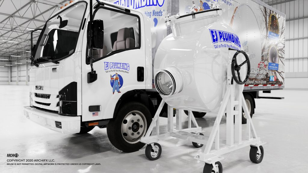 EJ Plumbing Box Truck with Inverter